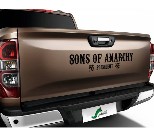 Sons of Anarchy President SOA Samcro TV Show Outlaw Club  Jax Teller Charming  Car Vinyl Sticker Decal