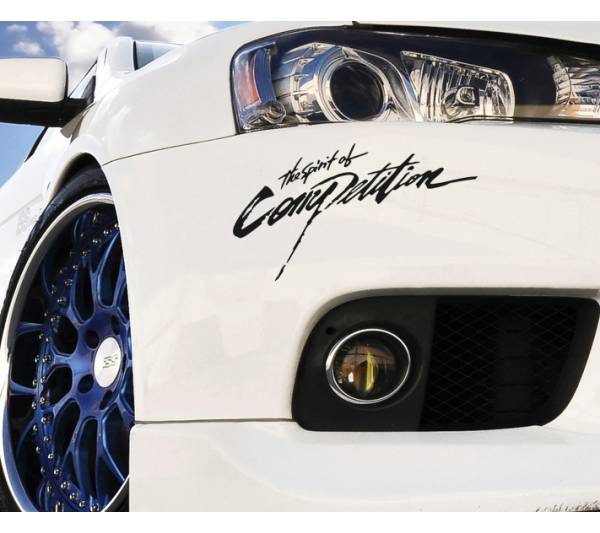 2x Spirit of Competition Mitsubishi EVO Lancer Racing Japan JDM Car Vinyl Sticker Decal