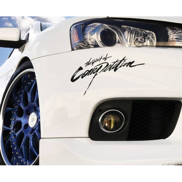 2x Spirit of Competition EVO Lancer Racing Japan JDM Car Vinyl Sticker Decal >