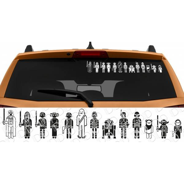 13in1 Family Skywalker Darth Leia Rebel Galactic Empire Jedi R2 D2 Car Laptop Vinyl Sticker Decal>