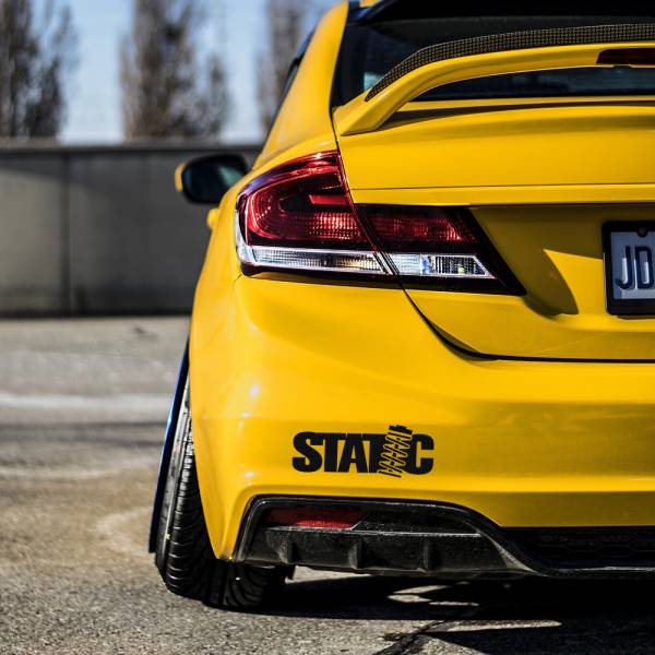 Static Nation v1 Logo Banner Lowered Stance Low Slammed  JDM Racing Turbo Car Vinyl Sticker Decal