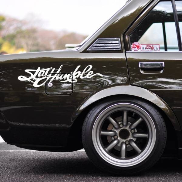Stay Humble Fun JDM Stance Japan Performance Car Windshield Vinyl Sticker Decal>
