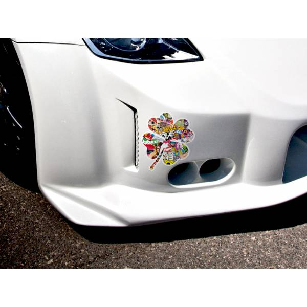 Clover Lucky JDM Sticker Bomb Body Royal Windshield Stance Printed Vinyl Decal>