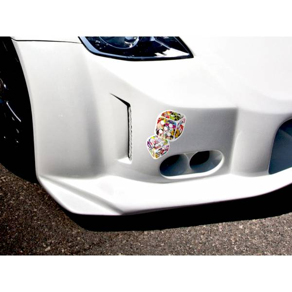 Dice Lucky JDM Sticker Bomb Body Royal Windshield Stance Printed Vinyl Decal>