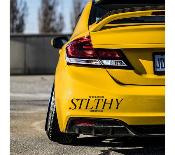 Stlthy v2 Banner Drift Racing Street Nightlife Glory Japanese Windshield Stance Build Event Meet Car Vinyl Sticker Decal