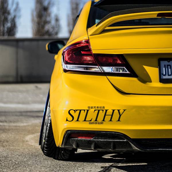 Stlthy v2 Banner Drift Racing Street Nightlife Glory Japanese Windshield Stance Build Event Meet Car Vinyl Sticker Decal >