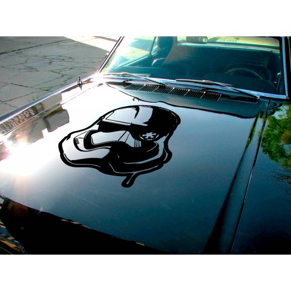 Stormtrooper Blood Helmet Hood Galactic Empire Clone Darth Car Vinyl Sticker Decal>