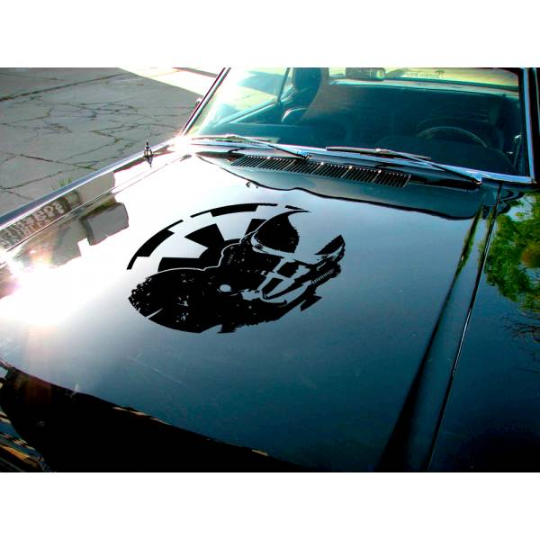 Stormtrooper Distressed Helmet Hood Galactic Empire Logo Clone Darth Vader Star Wars Car Vinyl Sticker Decal