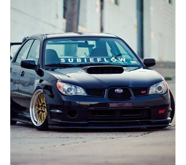 Long Subieflow Subaru JDM Logo Windshield Strip Banner Show Royal Event Stance Low Vinyl Decal