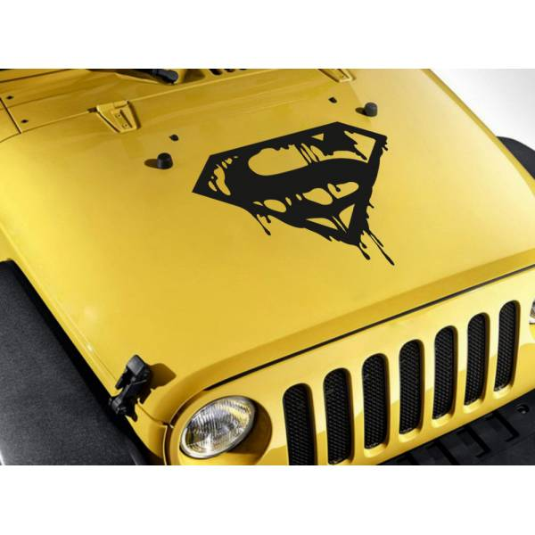 Superman Blood Hood DC Sign Logo Superhero Comic Car Body Vinyl Sticker Decal