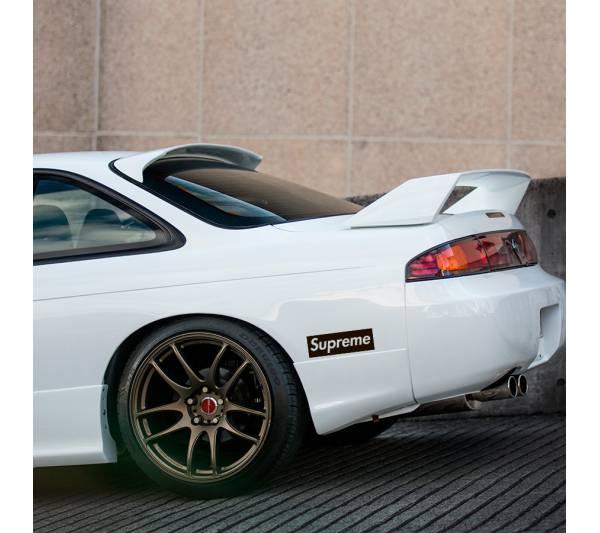 2x Pair Supreme Car Show Event Stance Build Low Hellaflash Royal Banner Culture Dope JDM Sticker Decal