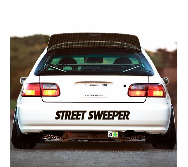 Street Sweeper Gang v4 Windshiled Banner Stripe JDM Stance Low Slammed Tuning Rising Sun Japan Car Vinyl Sticker Decal
