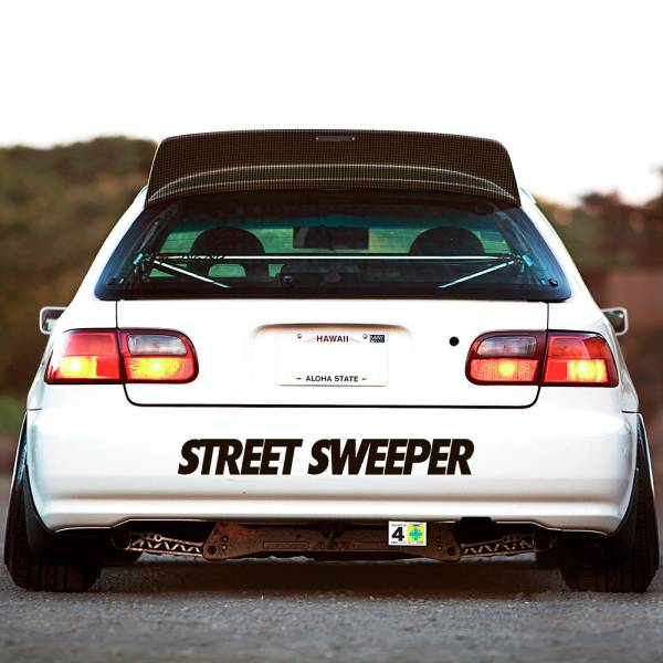 Street Sweeper Gang v4 Windshiled Banner Stripe JDM Stance Low Slammed Tuning Rising Sun Japan Car Vinyl Sticker Decal >