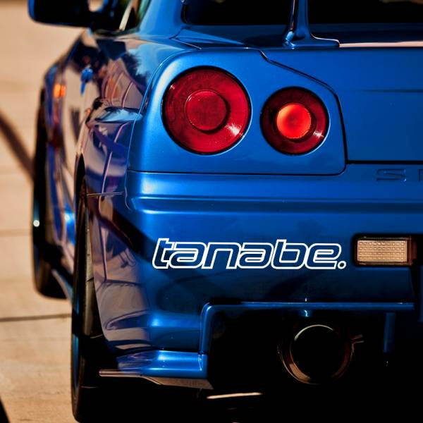 Tanabe v1 Sustec Motorsport Racing Event Stance Banner Strip JDM Low Vinyl Decal >