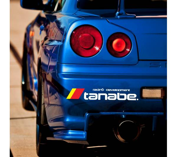 Tanabe v4 Logo Sustec Motorsport Racing Event Stance Banner Strip JDM Low Vinyl Decal