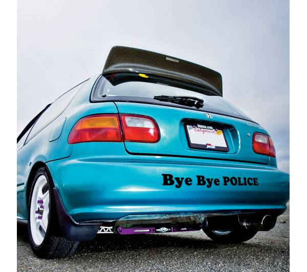 Bye Bye Police Banner Loop Door Osaka JDM Kanjo Performance Kanjozoku Honda Racing Civic EK EG Car Vinyl Sticker Decal