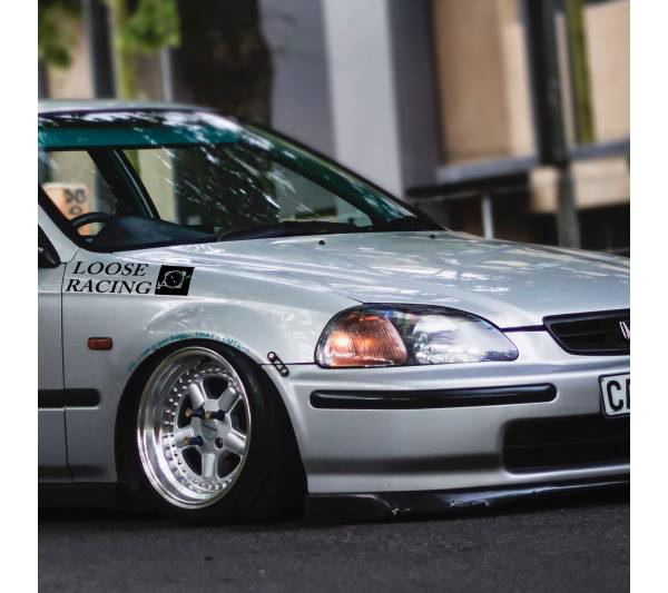 Loose Racing Logo Banner Loop Osaka JDM Kanjo Performance Kanjozoku Honda Racing Civic EK EG Car Vinyl Sticker Decal