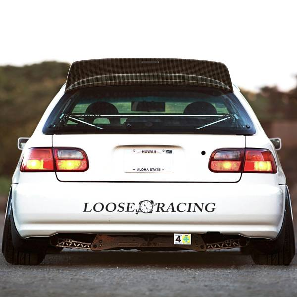 Loose Racing Logo v2 Banner Loop Osaka JDM Kanjo Performance Kanjozoku Honda Racing Civic EK EG Car Vinyl Sticker Decal