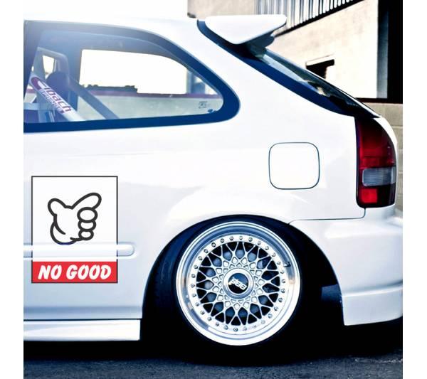 2x Pair No Good Door Osaka JDM Kanjo Performance Kanjozoku Honda Civic EK EG Racing Car Printed Vinyl Sticker