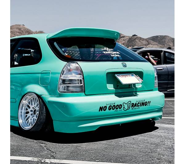 No Good Racing Police Kanji Banner Loop Osaka JDM Kanjo Performance Kanjozoku Honda Racing Civic EK EG Car Vinyl Sticker Decal