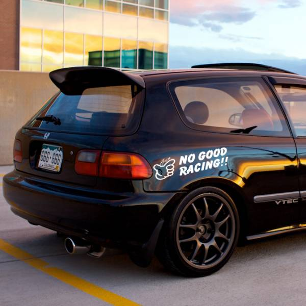 Team No Good Racing Police v3 Loop Osaka JDM Kanjo Performance Kanjozoku Honda Civic EK EG Car Vinyl Sticker Decal