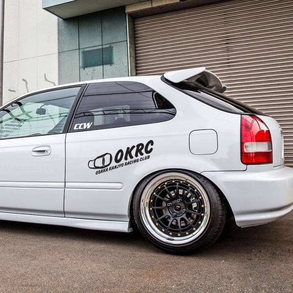 OKRC Osaka Kanjyo Racing Club Banner v1 Loop  JDM Performance Kanjozoku Honda Civic EK EG Car Vinyl Sticker Decal