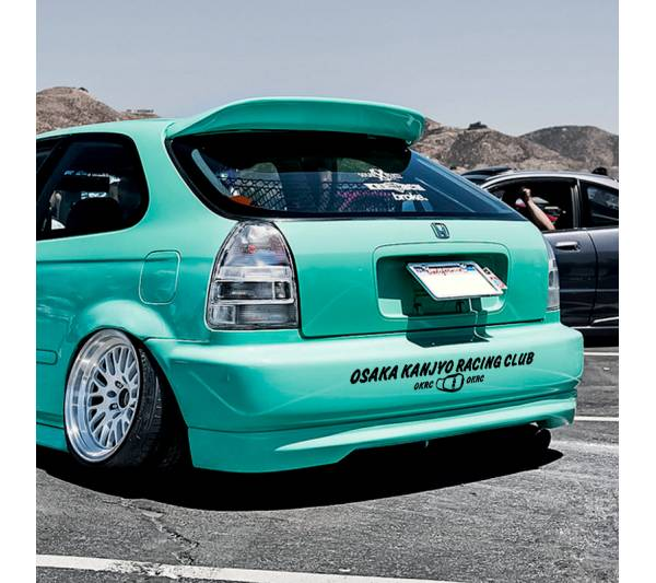 OKRC Osaka Kanjyo Racing Club Banner v3 Loop  JDM Performance Kanjozoku Honda Civic EK EG Car Vinyl Sticker Decal