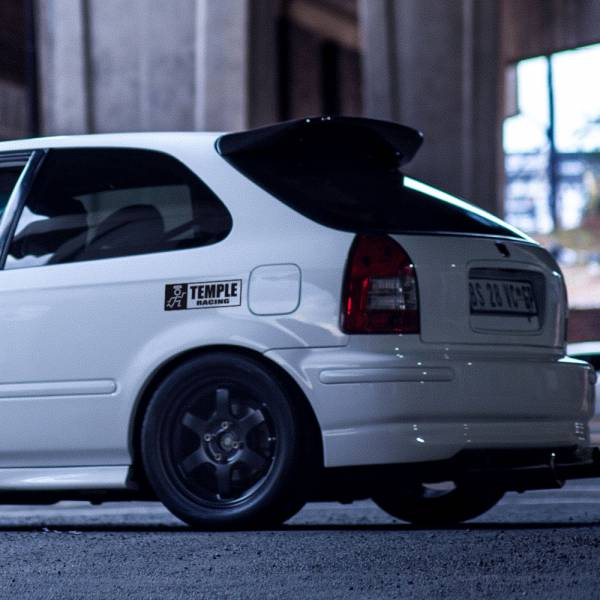Temple Racing Logo Banner v1 Loop  JDM Performance Kanjozoku Honda Civic EK EG Car Vinyl Sticker Decal