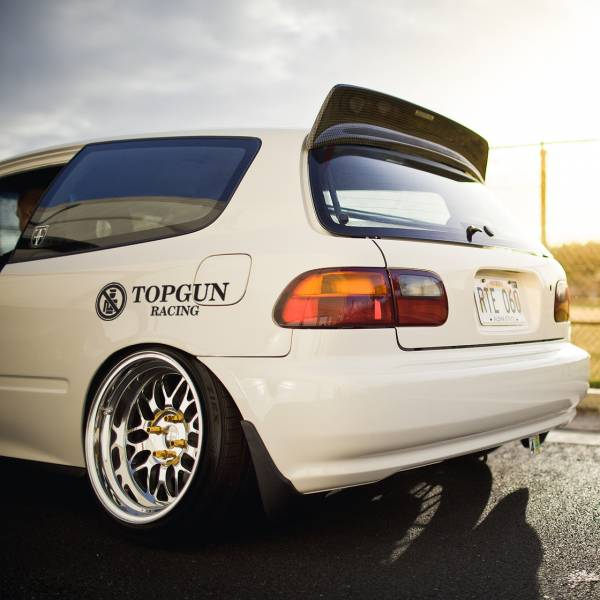 Topgun Racing Logo v2 Bye Police Banner Osaka Kanjo Loop Angels  JDM Performance Kanjozoku Honda Civic EK EG Car Vinyl Sticker Decal
