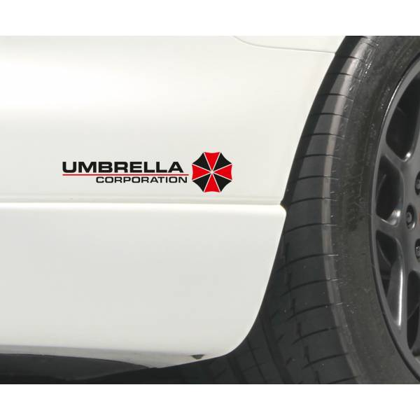 2x Umbrella Corporation Resident Evil Game Zombie Car Body Laptop Decal Sticker 	>