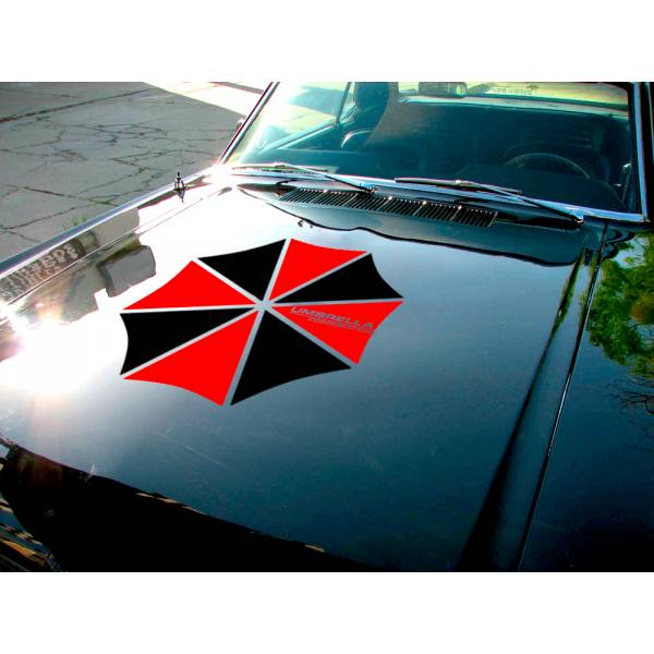 Umbrella Corporation Hood Evil Zombie Outbreak Response Team Car Decal Sticker>