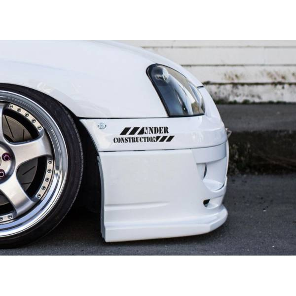 2x Under Construction Stance Lowered Japan JDM Windshield Vinyl Sticker Decal 	>