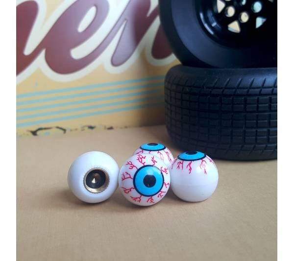 4x Eyes Blood Zombie Outbreak Funny JDM Valve Cap Tire Wheel Rims Cover Accessories Car Bike Truck