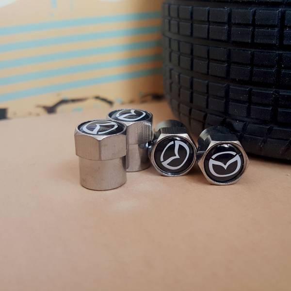4x Mazda Roatry MX RX-7 RX-8 5 6 Miata Valve Cap Tire Wheel Rims Cover Accessories Car Bike Truck