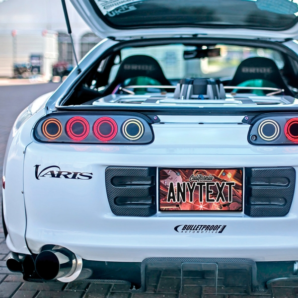 Blame! v4 Killy Cibo Sanakan Domochevsky City Netsphere Blame Anime Manga CUSTOM ANY TEXT STATE Printed Aluminum Composite Car Vanity License Plate