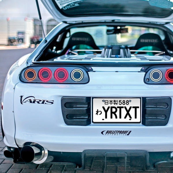 ANY CUSTOM TEXT Japanese v1 Printed Aluminum Composite Car JDM Replica Vanity License Plate Japan Made>