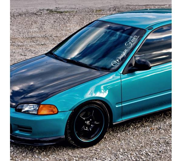 Wagon Fever Lifestyle Banner Stance Low Slammed Osaka JDM Kanjo Honda Racing Civic EK EG Car Vinyl Sticker Decal