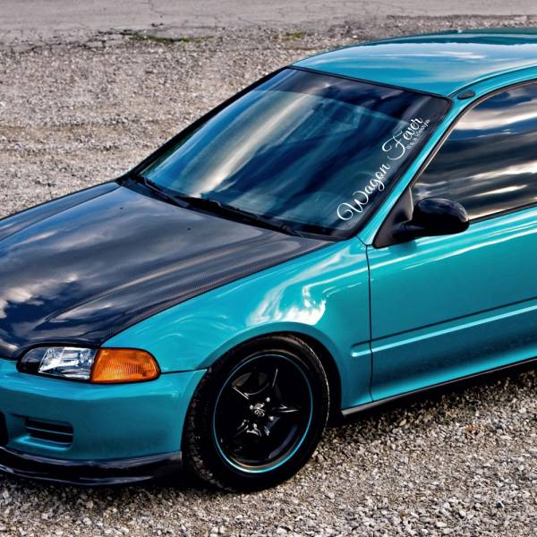 Wagon Fever Lifestyle Banner Stance Low Slammed Osaka JDM Kanjo Racing Civic EK EG Car Vinyl Sticker Decal>