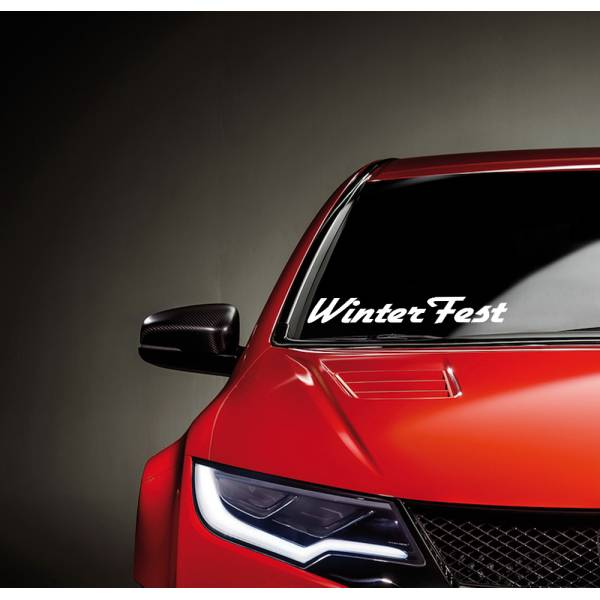 Winter Fest JDM Windshield Strip Banner Show Royal Event Stance Low Vinyl Decal >