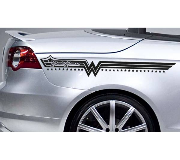Buy X Wonder Woman Stripes Superhero Justice Comics Girl Car - Car sticker decals vinyl girl