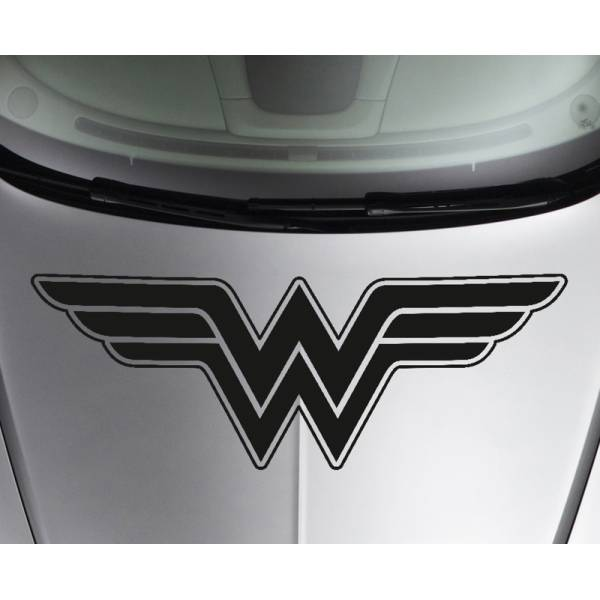 Hood Wonder Woman Logo Superhero Justice Comics Girl Car Vinyl Sticker Decal