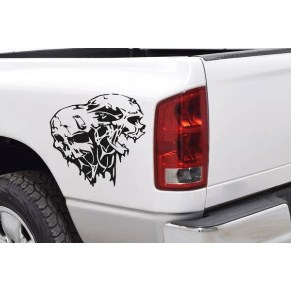 2x Side Zombie Skull Dead Walking Response Team Car Truck Vinyl Sticker Decal>
