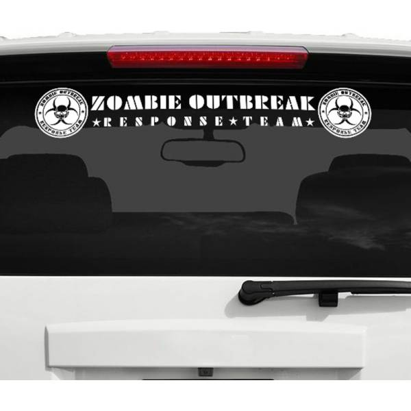 Zombie Outbreak Response Team Hunting Strip Car Windshield Vinyl Sticker Decal