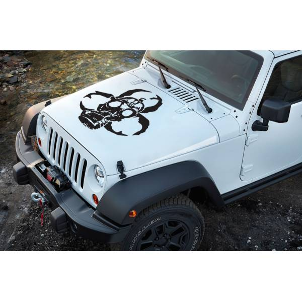 Zombie Gas Skull Dead Biohazard Outbreak Team Decal Car Truck Hood Vinyl Sticker>
