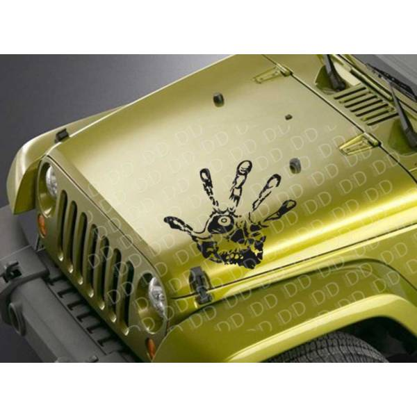Hood Hand Skull Zombie Shadow Outbreak Response Team Car Vinyl Sticker Decal >