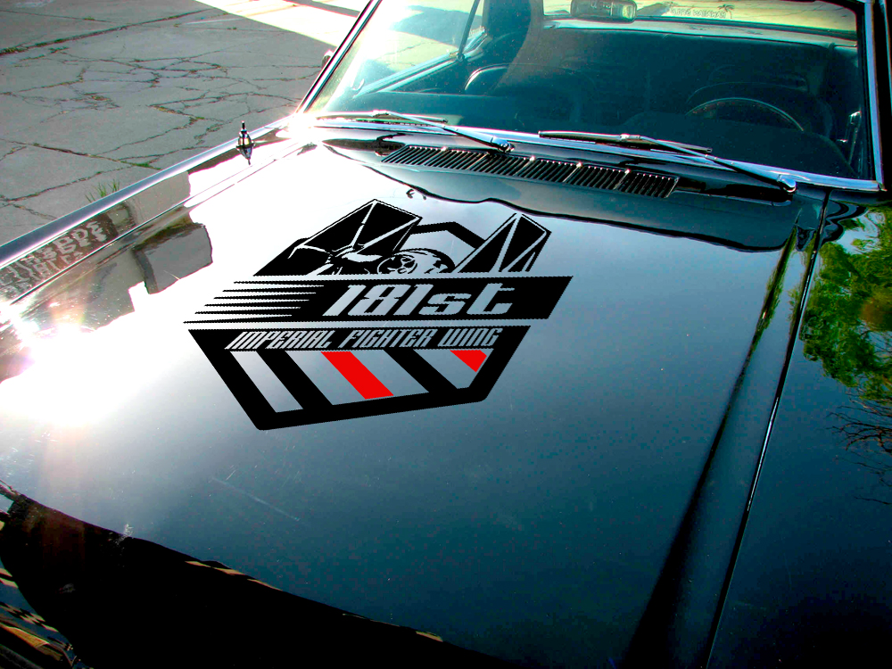 181 Imperial Fighter Wing Hood TIE Galactic Empire Interceptor Stormtrooper Star Wars Car Vinyl Sticker Decal