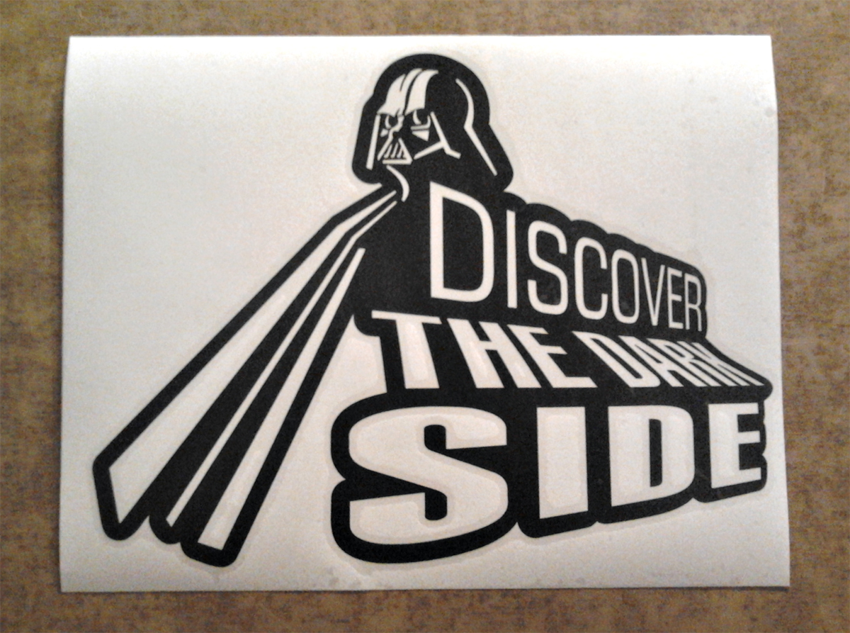 Darth Vader Star Wars Dark Side Car Window Body Laptop Vinyl Sticker Decal