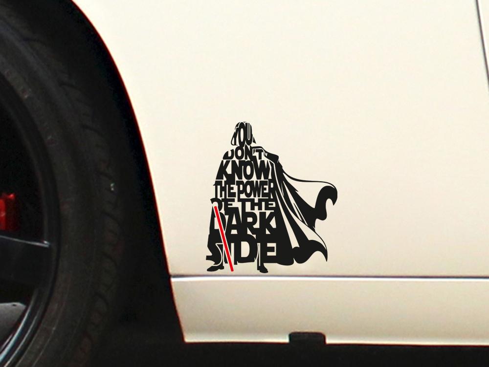Darth vader lightsaber star wars dark side force car laptop vinyl sticker decal