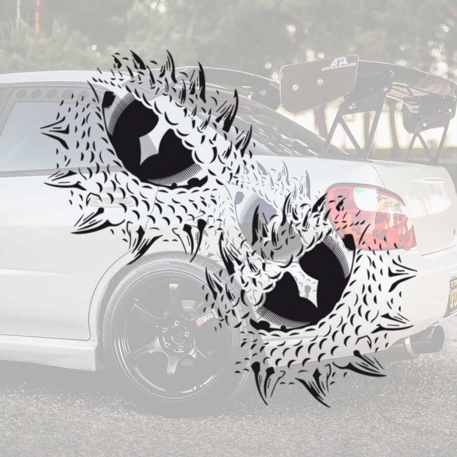 2x Pair Side Dragon Eye Drogon Rhaegal Viserion Targaryen Mother Daenerys Queen Game of Thrones TV Show Car Vinyl Sticker Decal