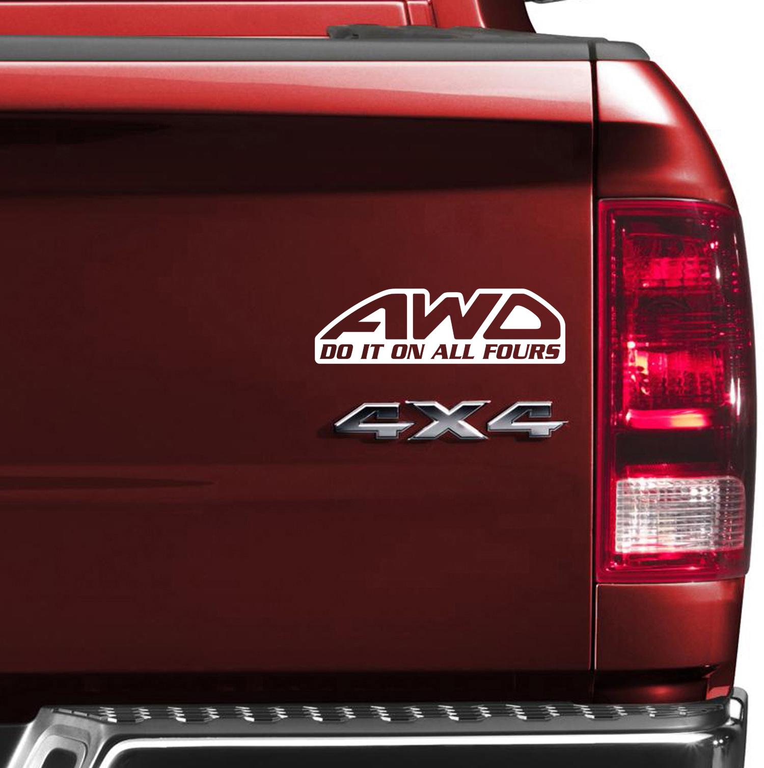 Buy Window Body Banner Girls Drive Trucks Too Woman Funny SUV X - Window vinyl stickers